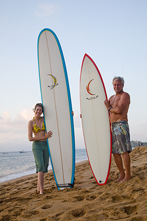 Steven and I with our new boards