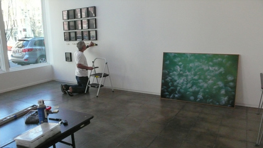 My incredible husband, Steven Josefsberg, installing the Nest series