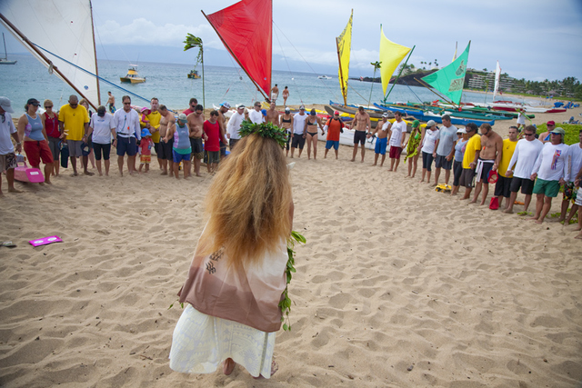 blessing of the canoes and acknowledging the traditions of sailing on Ka'anapali Beach
