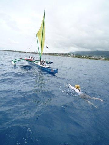 Swimming to my adoptive team