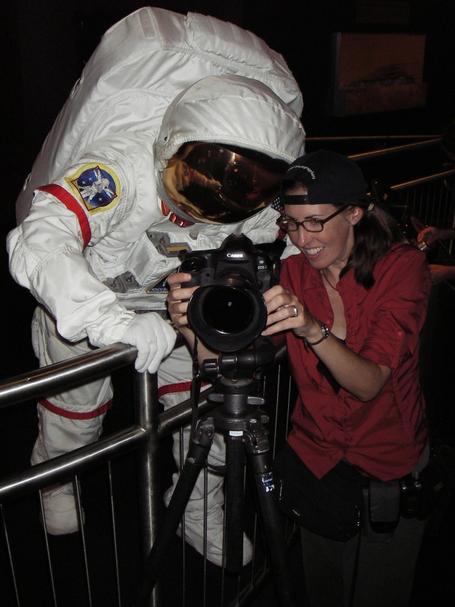 The astronaut was very curious to see the photos - not sure if he could!