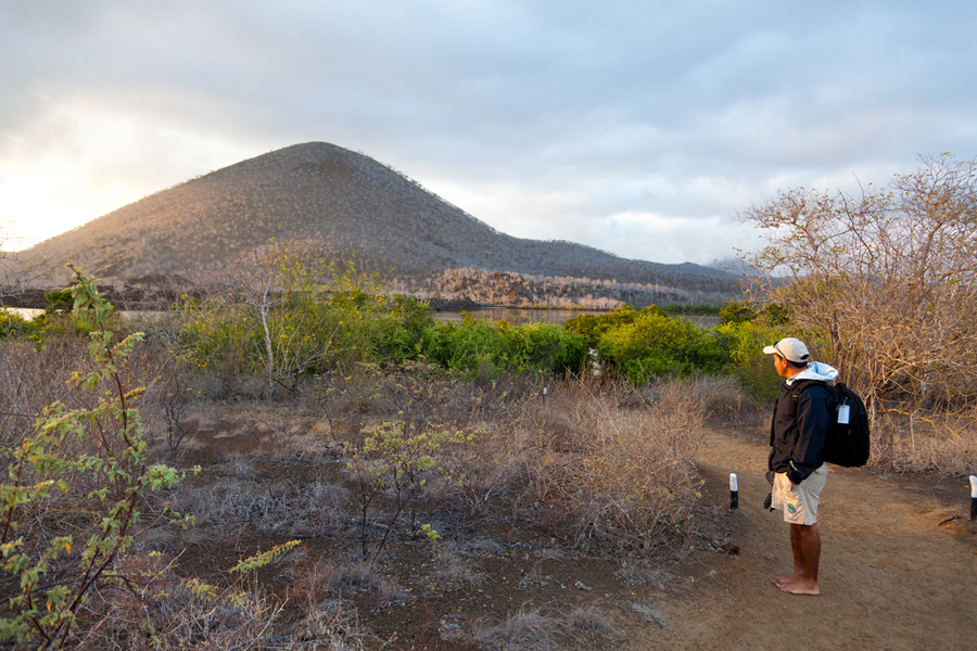 A morning hike on Floreana Island, looking for wild flamingos