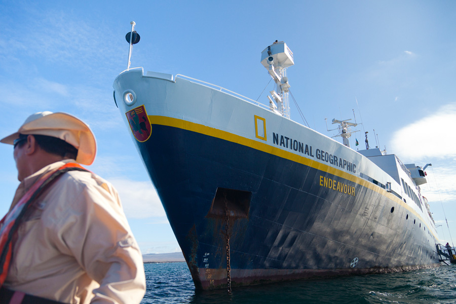 The National Geographic Endeavour, a ship that serves the Galapagos