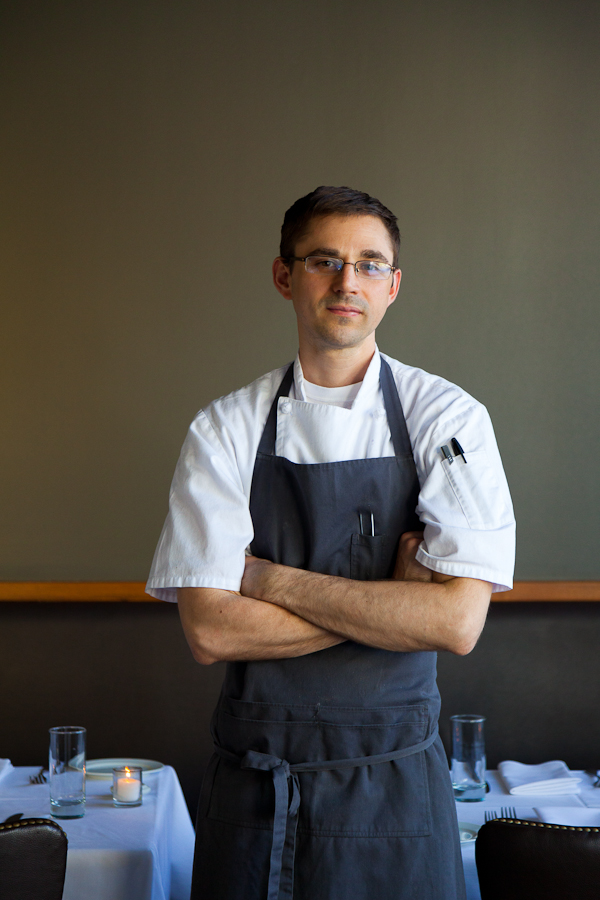 Executive Chef Justin Woodward of Castagna Restaurant. Nominated for Rising Star Chef of the Year by the James Beard Foundation