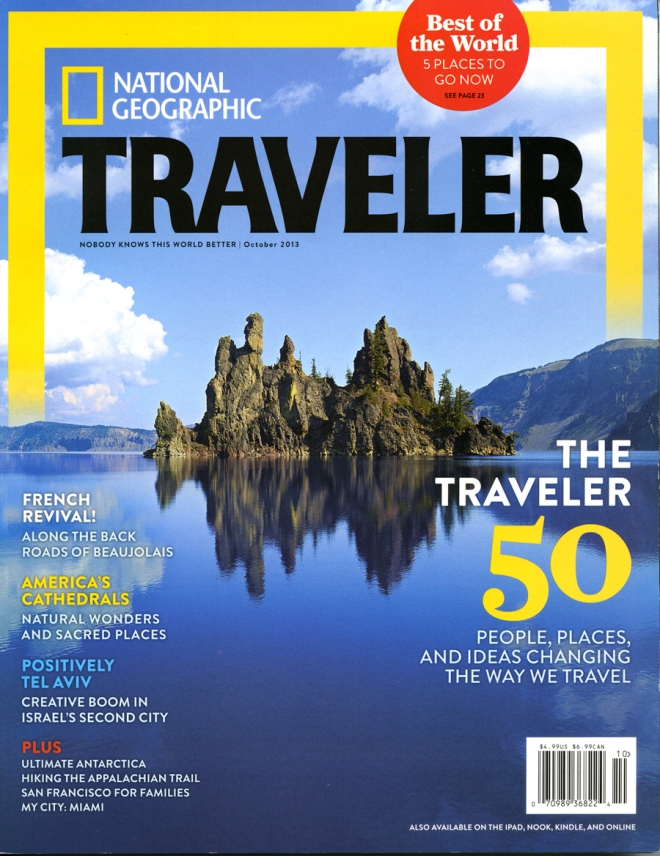 Cover of the October 2013 issue of National Geographic Traveler Magazine