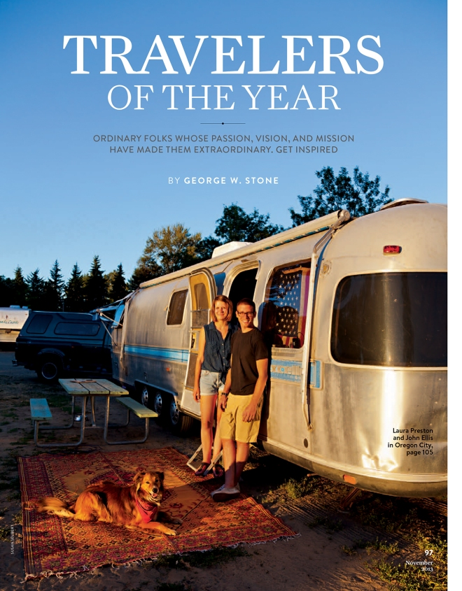 2013 National Geographic Travelers of the Year John Ellis and Laura Preston
