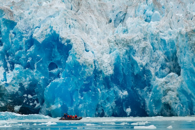 Our first glacier!  This is the South Sawyer Glacier in Tracy Arm Fjord.  Photographed with a Canon 5D Mark III + 70-200mm