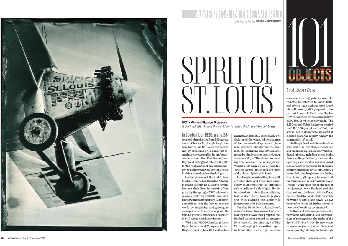 "The opening spread in Smithsonian Magazine for the section I illustrated, ""America In the World."""