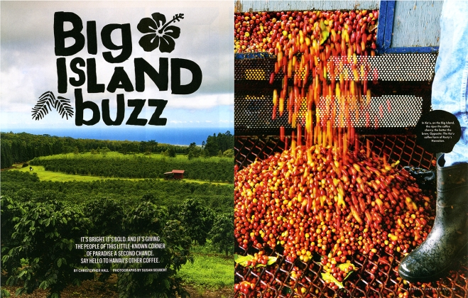 A story about award winning Ka'u Coffee being produced on the Big Island of Hawaii for Sunset Magazine
