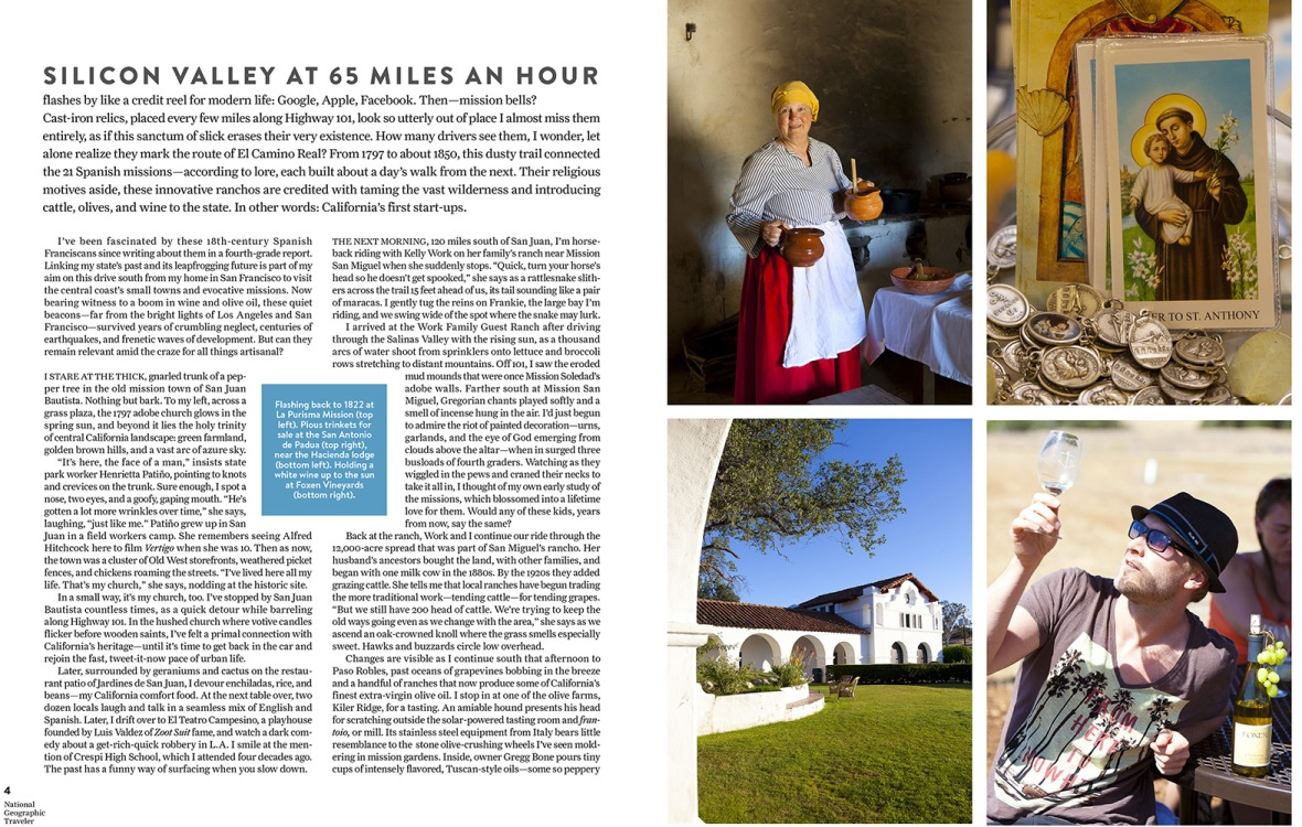 Some of the places I visited for the assignment are featured on this spread