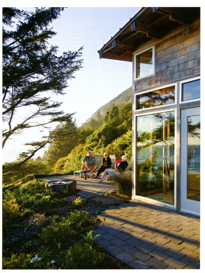 Dennis and Peggy Awtrey entertain guests at their hillside B and B in Manzanita, Oregon