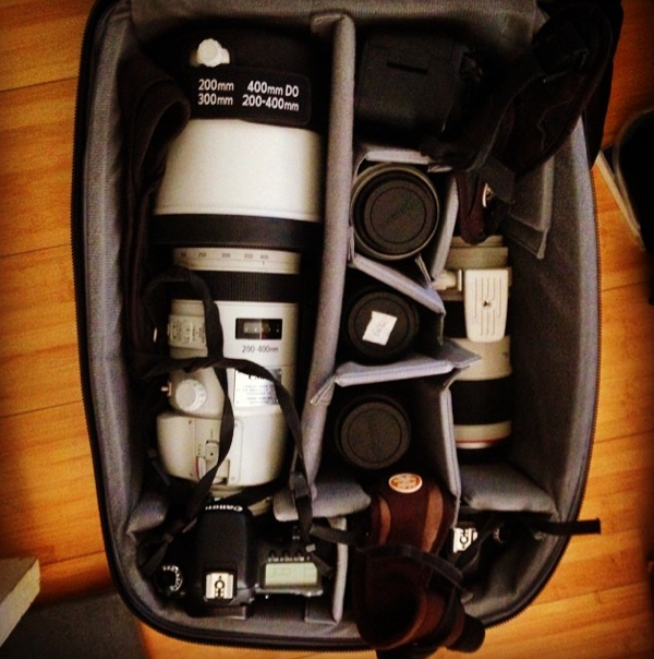 Lots of Canon Glass for this trip!