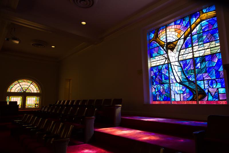 The Wales Window at the 16th Street Baptist Church in Birmingham, Alabama