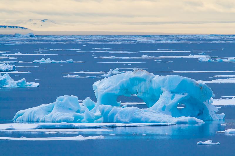Ice floating in Svalbard, Norway