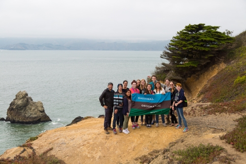 Our group portrait with all of the National Geographic Student Expeditions at the Sutro Baths, San Francisco, CA