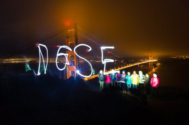 Our dusk shoot at the Golden Gate Bridge with Student Expeditions where we experimented with light writing and a group portrait