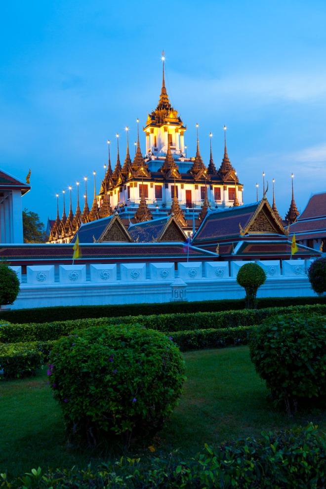 Wat Ratchanaddaram, a Buddhist temple in Bangkok, Thailand