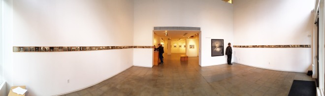 """The installation at the Froelick Gallery of Susan Seubert's show, """"The Fallacy of Hindsight"""""""