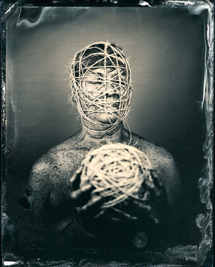 """""""Entwined"""", 50x40"""", Digital Pigment Print from Wet Plat Collodion Negative, 2015, edition of 15, signed, numbered and dated on verso, model: Twinka Thiebaud"""