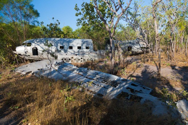 B-24 Liberator plane crash site at Vansittart Bay, Kimberley Coast, Australia