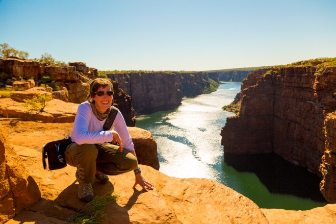 Me, at the top of twin falls. King George River, Kimberly Coast, Australia. Photo by Adam Cropp