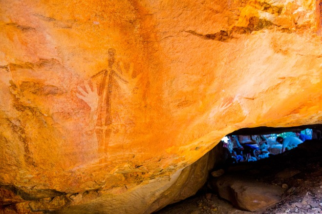 Gwion Gwion, or Bradshaw Rock Art, dated to be perhaps 50,000 years old, at Jar Island, Kimberly Coast, Australia