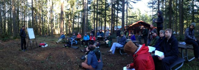Wilderness First Aid class taught outside of Portland, Oregon