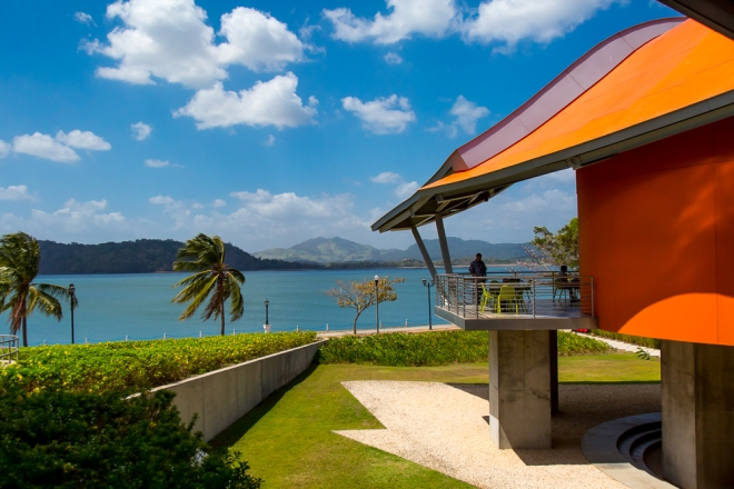 The Museum of Biodiversity, designed by famed architect Frank Gehry, in Panama City, Central America