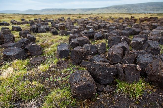 Peat Harvesting at Long Island Farm in the Falkland Islands
