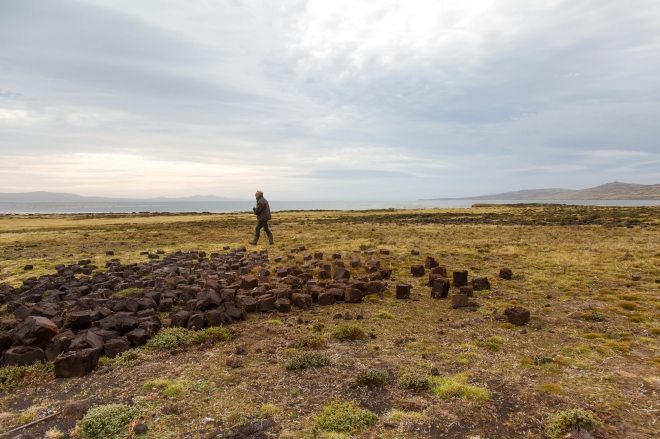 Peat Harvesting at Long Island Farm in the Falkland Islands