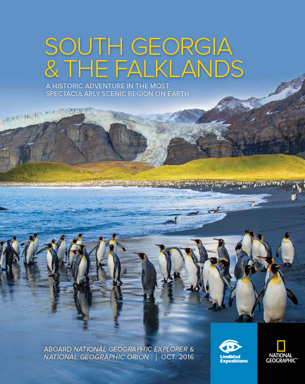 The Brochure Cover for National Geographic | Lindblad Expeditions South Georgia and the Falkland Islands