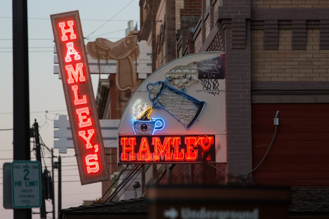 Hamleys, a leather goods and Western wear shop, Cafe and Restaurant in downtown Pendleton, Oregon
