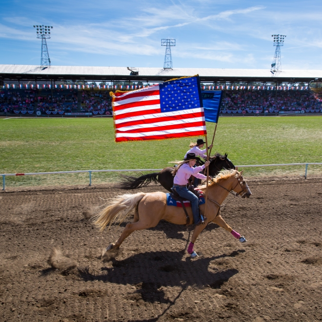 The Grand Entry at the Pendleton Round Up Rodeo, Pendleton OR, USA
