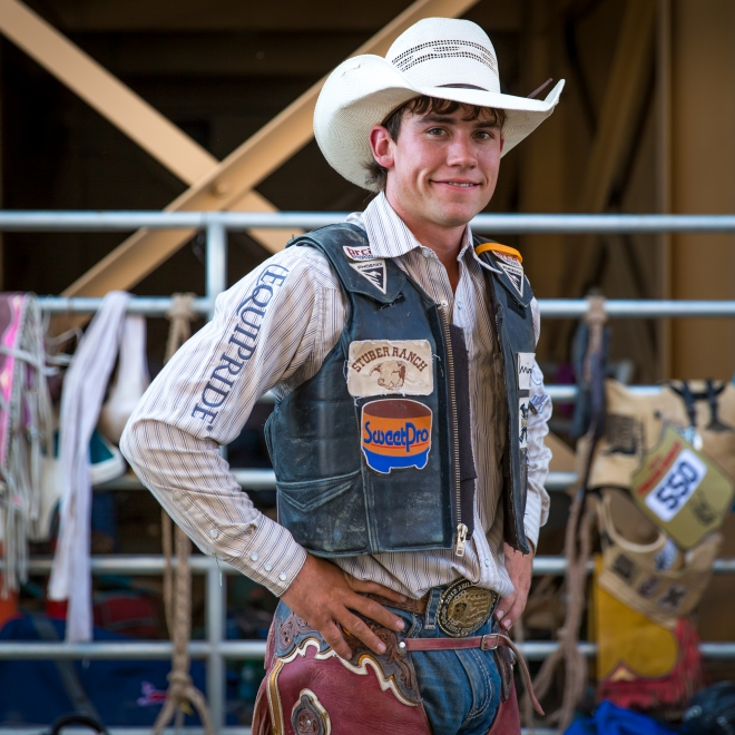 one of the 700 cowboys who come to compete at the Pendleton Round Up Rodeo, Pendleton OR, USA
