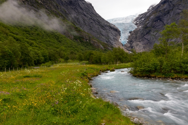Briksdal Glacier, Norway, Europe