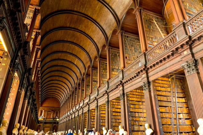 The Library at Trinity College, Dublin, Ireland, Europe