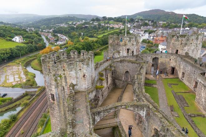 Conway Castle, Llandundo, Wales, Europe