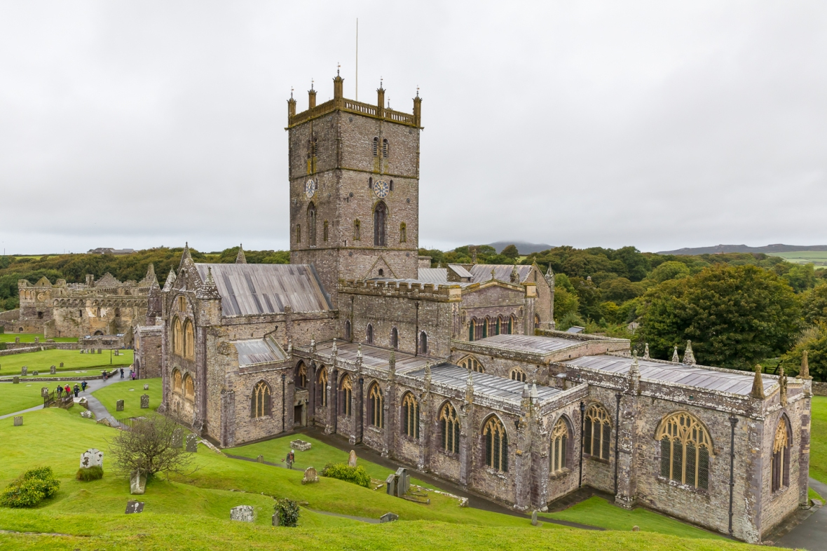 St. David's Cathedral, Fishguard, Wales, Europe